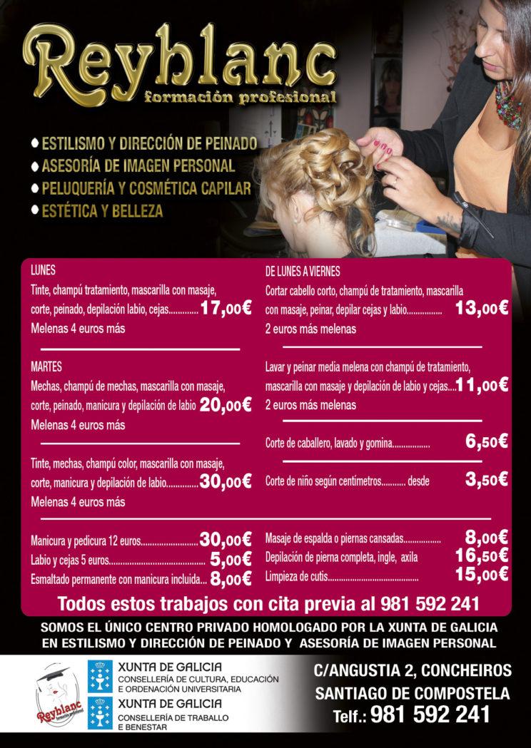 ofertas peluquería y estética Reyblanc santiago de compostela